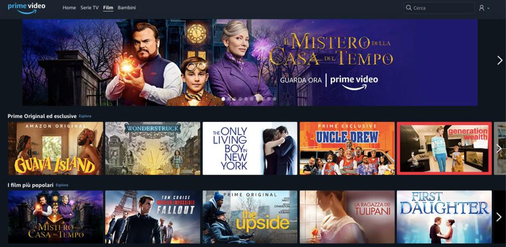Amazon Prime Video Catalogo Film