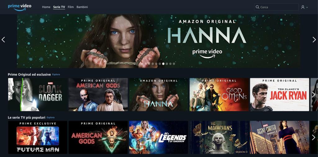 Prime Video, offerta Serie TV
